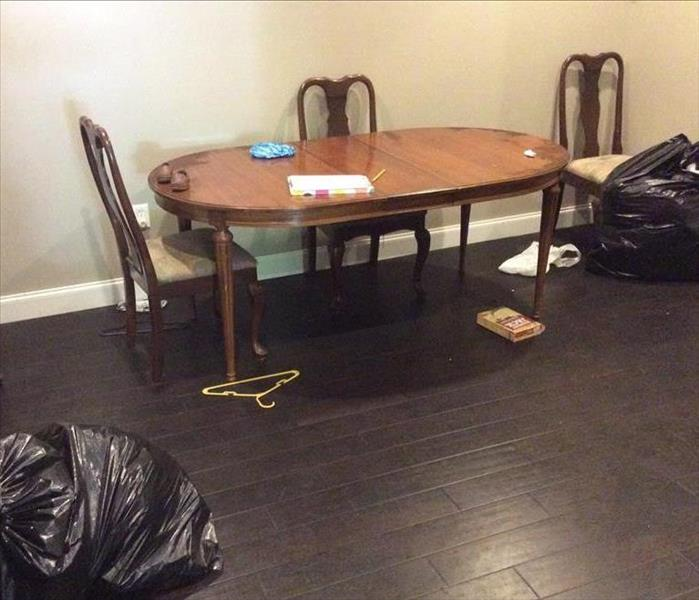 Dining Room Fire Damage In Alabama Before