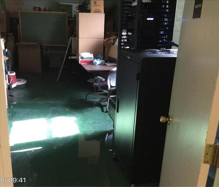 Flooded Computer Room In Winfield. Before